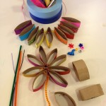 Recycle craft flowers