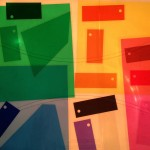 Colored transparencies on the light table