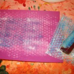 Printing with bubble wrap