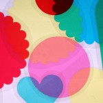 Colored shapes at the light table