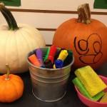 Erasable drawing on pumpkins