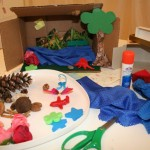 Dioramas and clothespin people