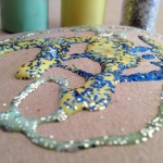 Drawing with colored glue