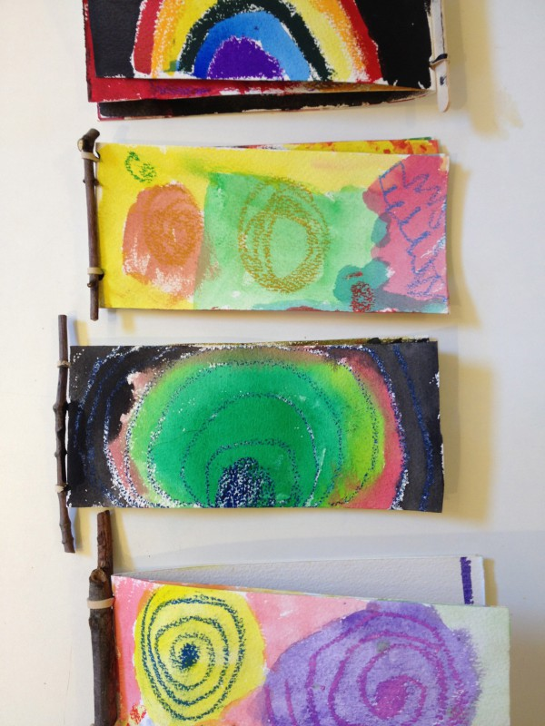 Handmade books with twig bindings