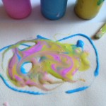 Colored glue art
