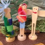 Clothespin people to dress