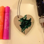 Mother's Day heart decorating