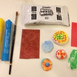 Texture circles with model magic