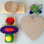 Making pins with wooden shapes