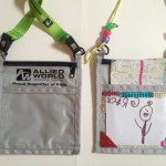 Up-cycled badge holders