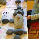 Temporary rock sculptures