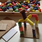 Cornstarch builder sculptures