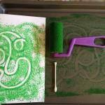 Cookie sheet mono-prints