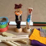 Crafting clothespin people
