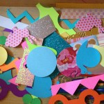 Laminated bookmarks / collages