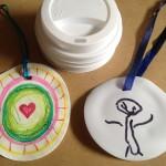Coffee lid medallions (shrinky!)