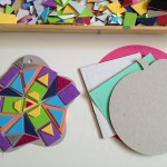 Foam sticker mosaics