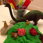 Play dough and dinosaurs