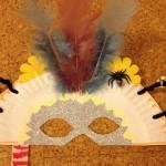 Paper-plate Halloween masks