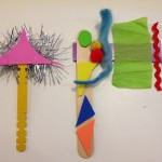 Crafting with sticky foam and craft sticks