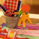 Paper craft chains and bracelets and figures