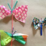 Butterfly puppets and garlands