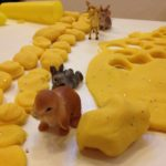 Play dough and animals