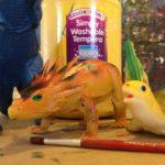 Painting dinosaurs