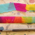 Color mixing with bleeding tissue paper