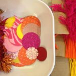 Crafting decorative garlands (in warm colors!)