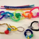 Beaded wire links