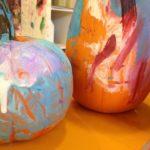 Painting on pumpkins