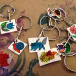 Shrinky-dink keychains and charms