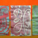 Fingerpaint monoprints