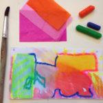Bleeding tissue and oil pastels