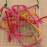 Needlepoint with beading