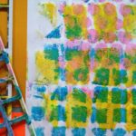 Printmaking with stencils