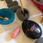 Rocks, chalk, and water