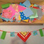 Origami paper garlands