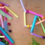 Straws, beads, and pipe cleaners