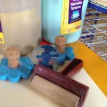Printing and painting with brayers
