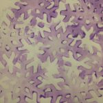 Stamping with snowflakes