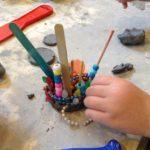 Clay with craft sticks