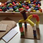 Sculpting with cornstarch builders