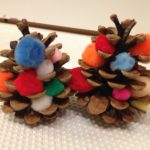 Pinecones and pom poms