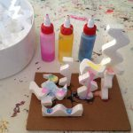 Styrofoam shape sculptures