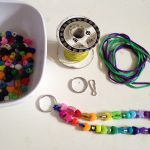 Beading key chains and jewelry