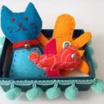 Sewn and stuffed box pets