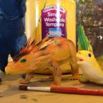 Painting animals and dinosaurs