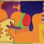 Paper scrap collage